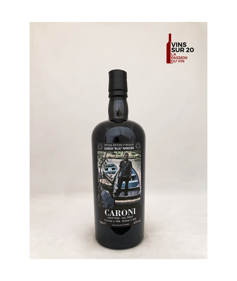 "CARONI - 22 ANS - 1998 - GANESH ""BUJU"" RAMGOBIE - 67° - 70CL"
