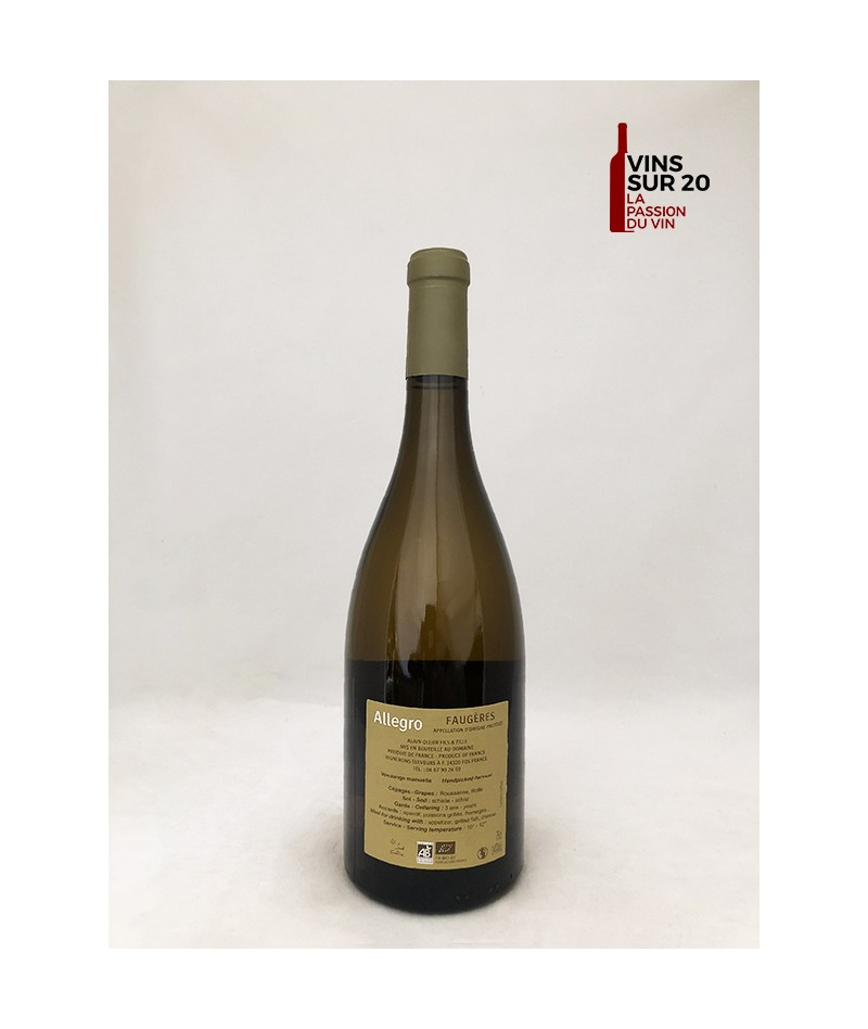 DOMAINE OLLIER TAILLEFER - CUVÉE ALLEGRO - 2019
