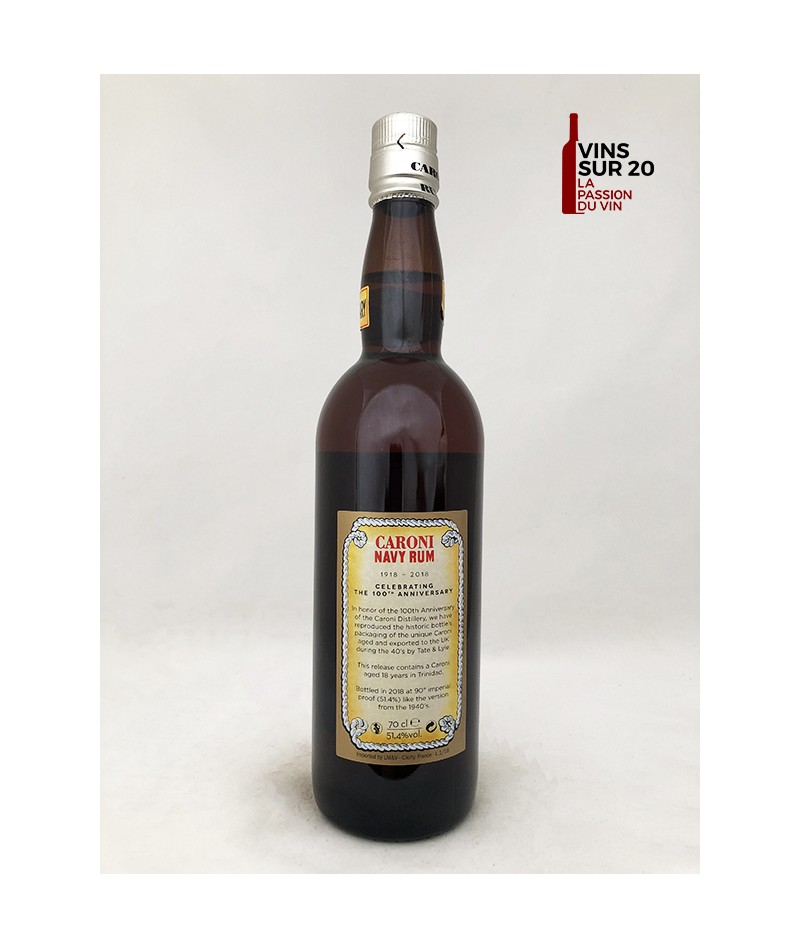 CARONI - NAVY RUM - EXTRA STRONG - 100e ANNIVERSAIRE - 51.4° - 70CL